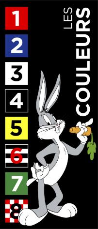 Les couleurs dossards bugs bunny 2