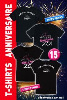 T shirts anniversaire